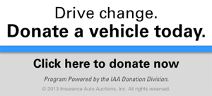 Drive change. Donate a vehicle today. Click here to donate now.